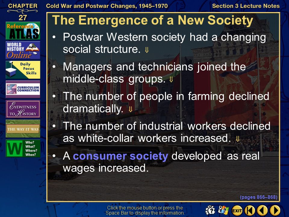 The Emergence of a New Society