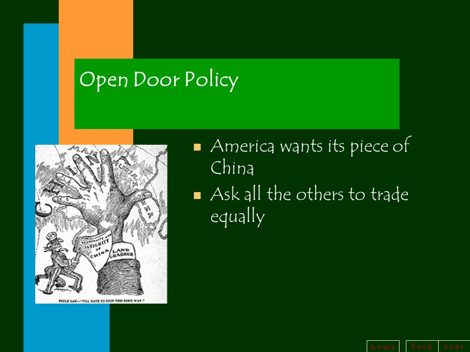 Open Door Policy America wants its piece of China