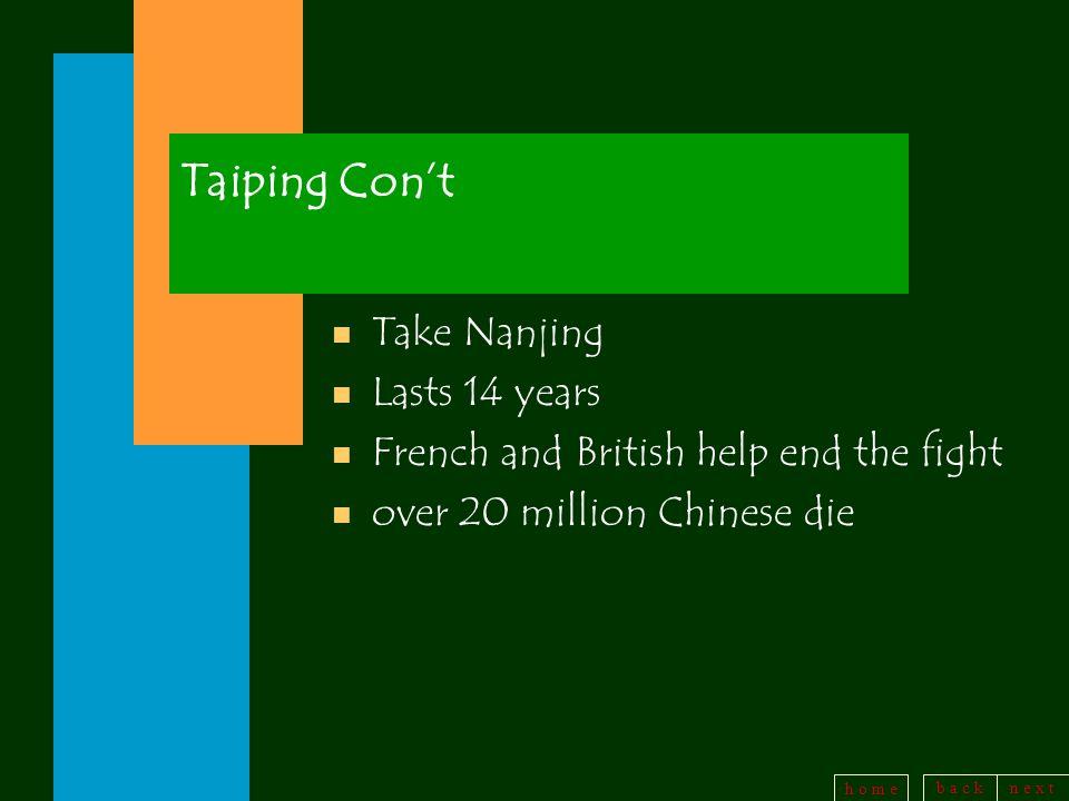 Taiping Con't Take Nanjing Lasts 14 years