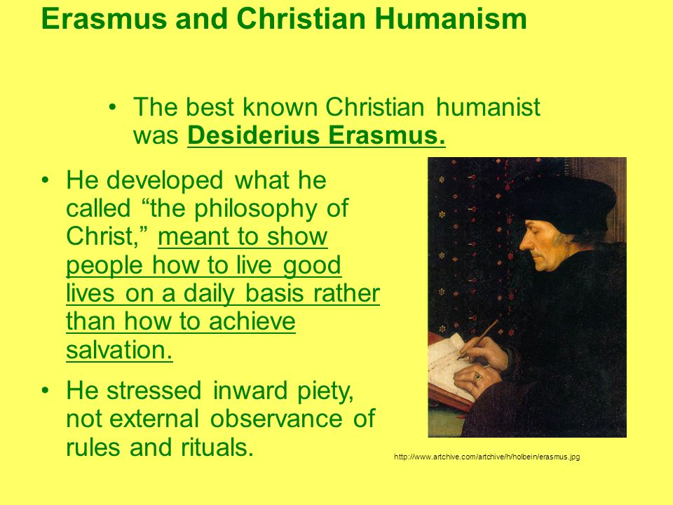 Erasmus and Christian Humanism