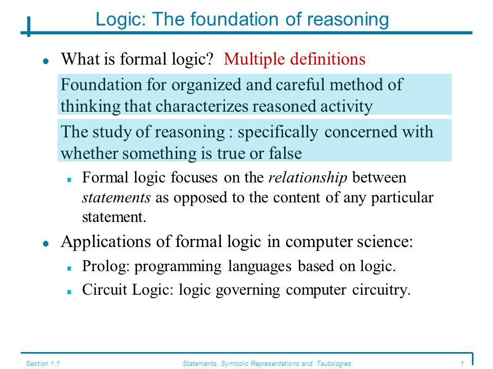 Logic: The foundation of reasoning