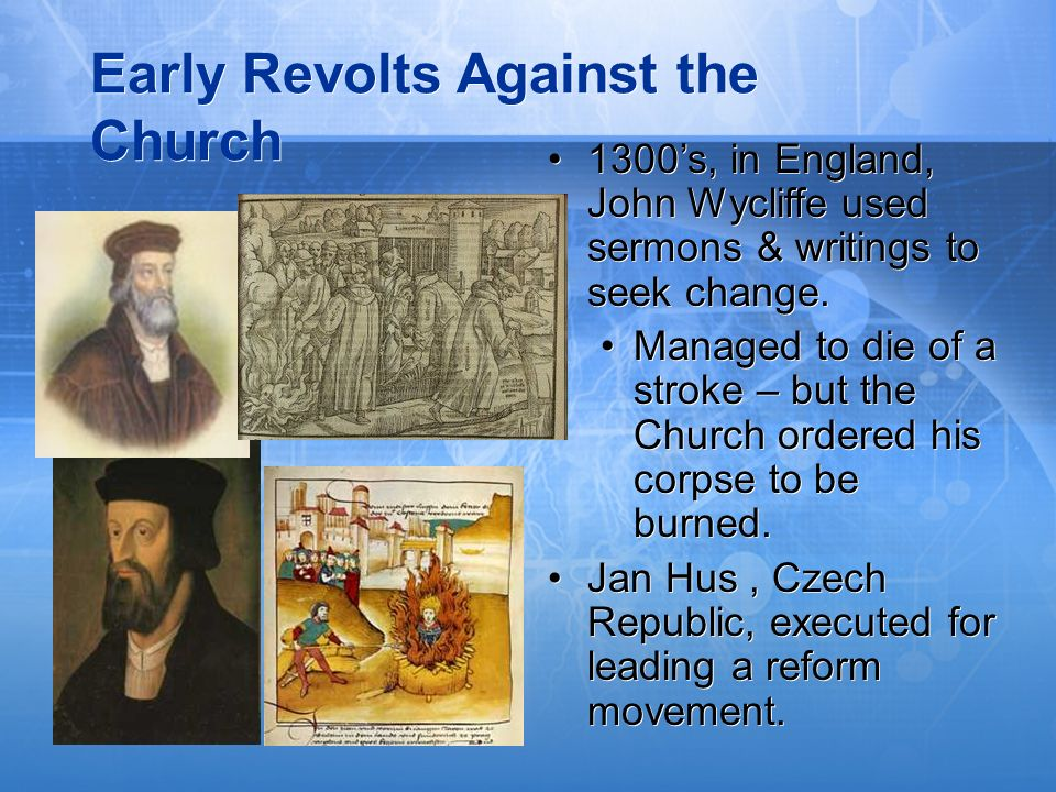 Early Revolts Against the Church