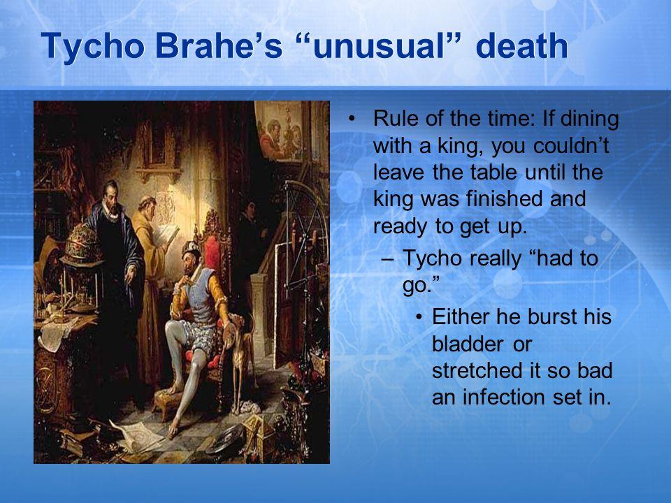 Tycho Brahe's unusual death