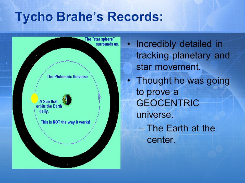 Tycho Brahe's Records:
