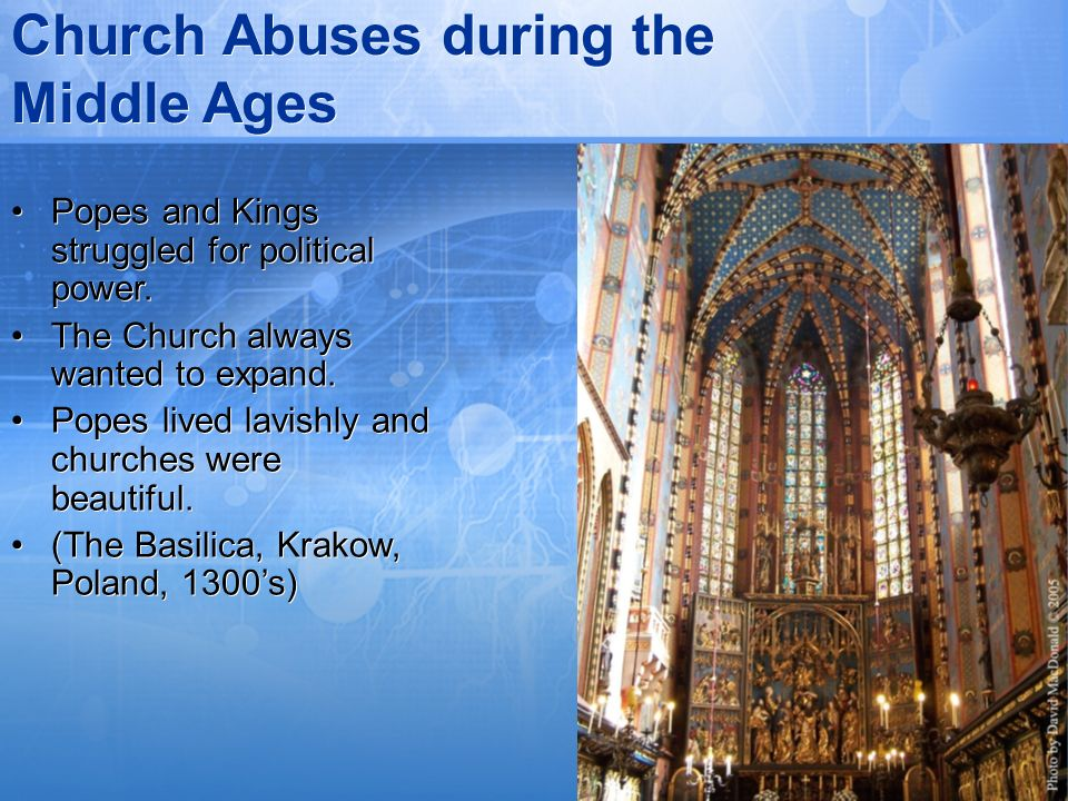 Church Abuses during the Middle Ages