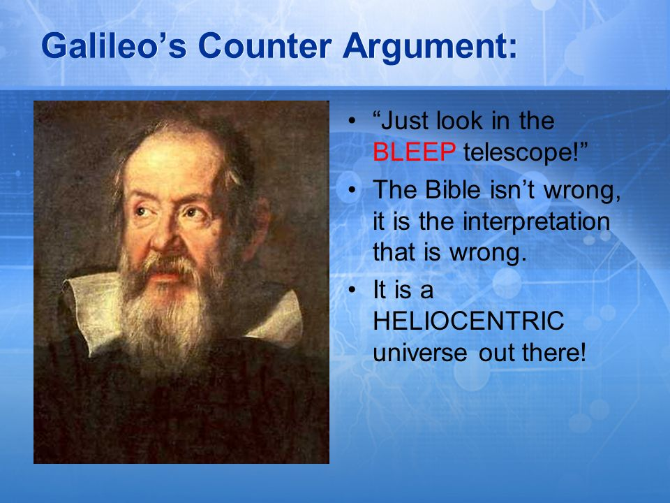 Galileo's Counter Argument: