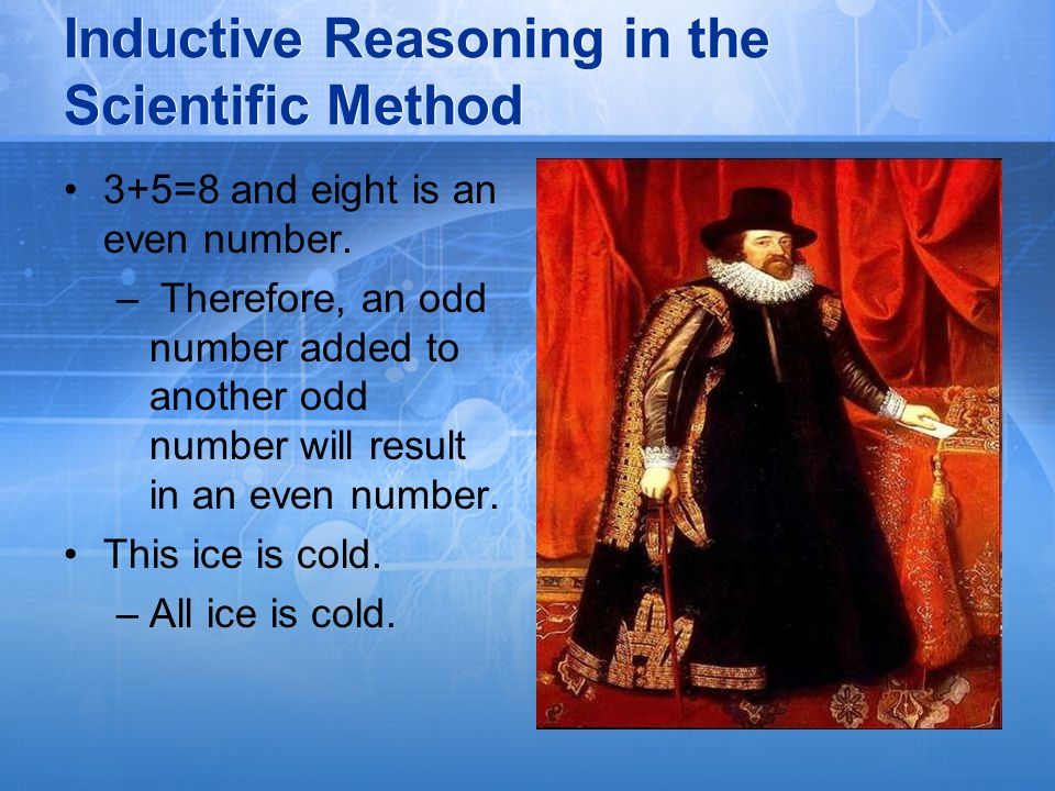 Inductive Reasoning in the Scientific Method