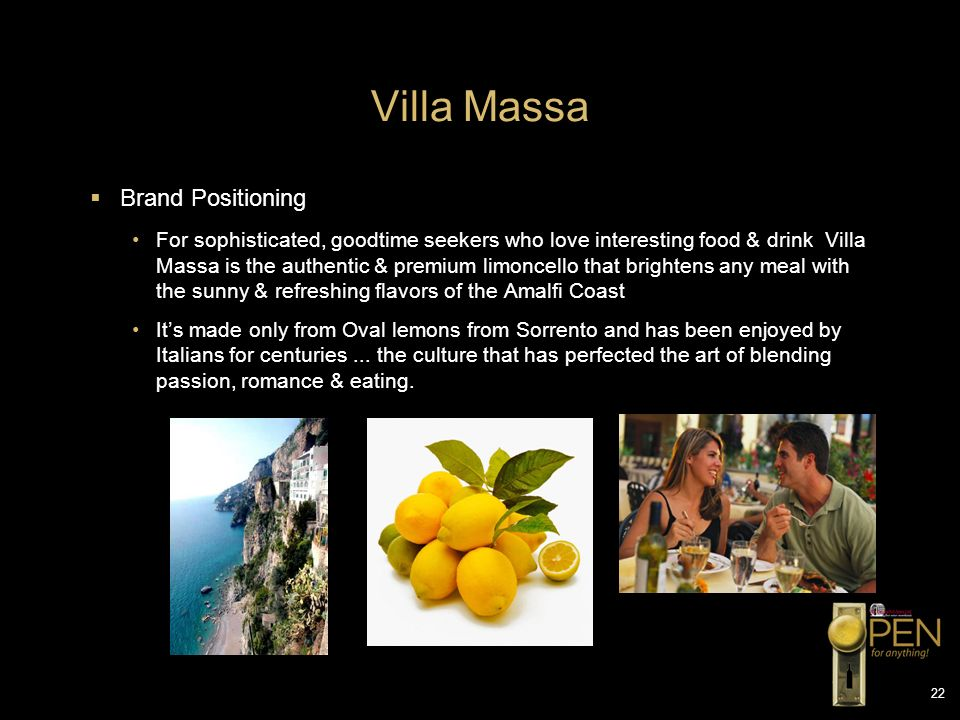 Villa Massa Brand Positioning