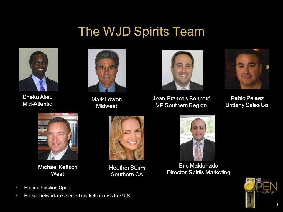 The WJD Spirits Team Sheku Alieu Jean-Francois Bonneté Pablo Pelaez