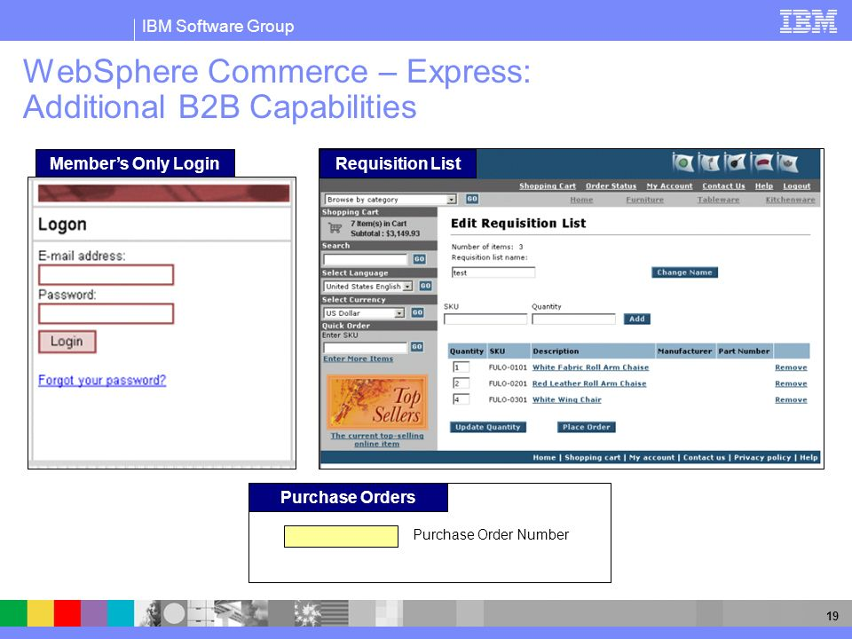 WebSphere Commerce – Express: Additional B2B Capabilities