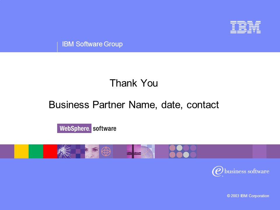 Thank You Business Partner Name, date, contact