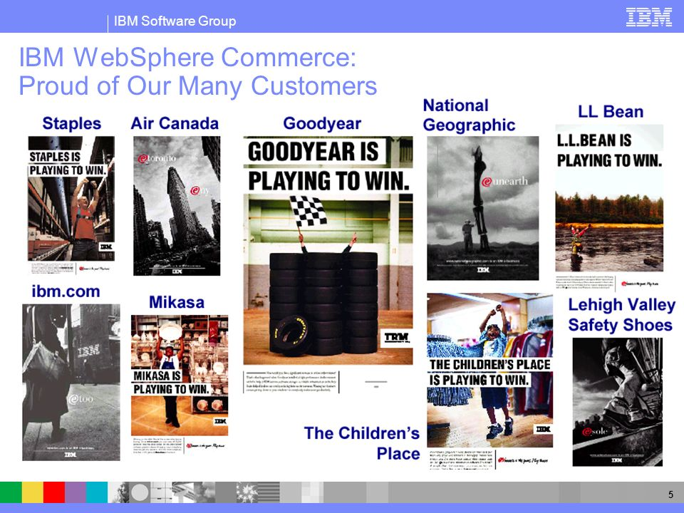 IBM WebSphere Commerce: Proud of Our Many Customers