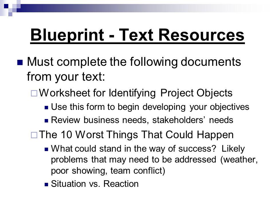 Blueprint - Text Resources