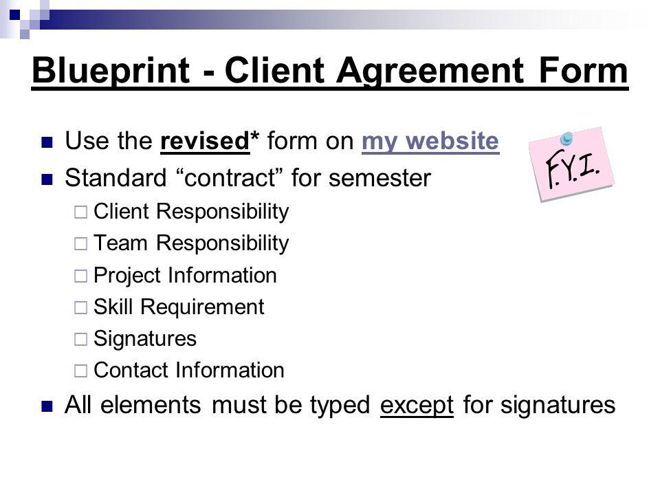 Blueprint - Client Agreement Form
