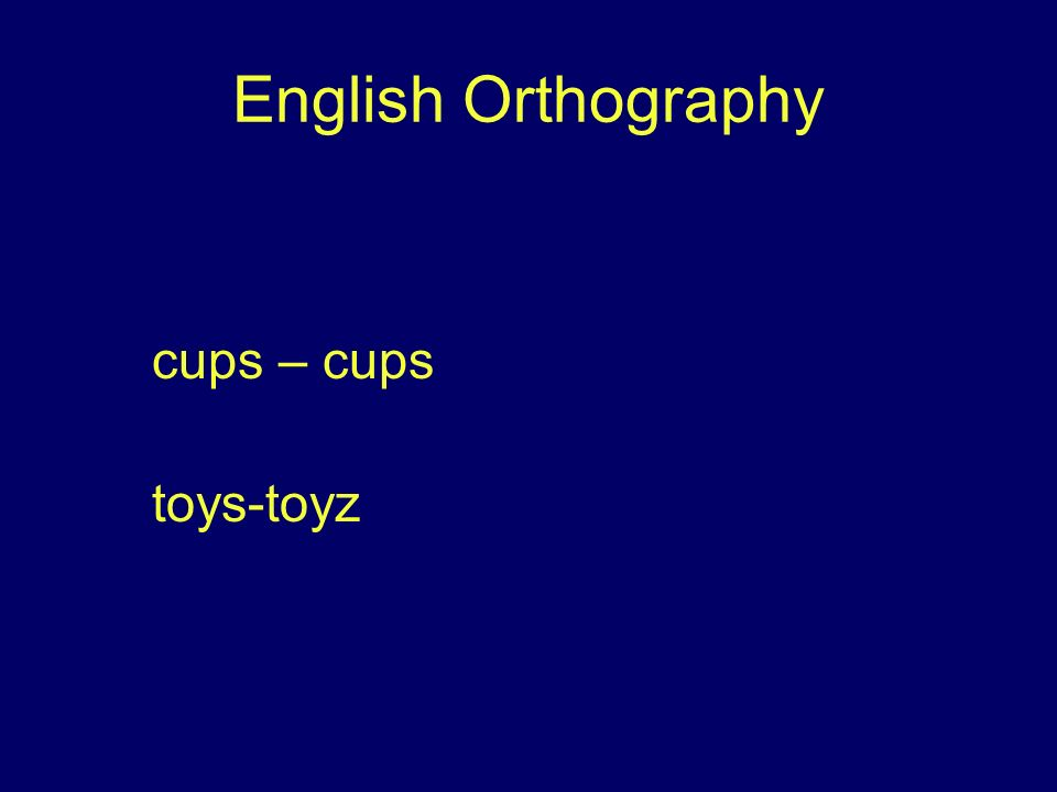 English Orthography cups – cups toys-toyz