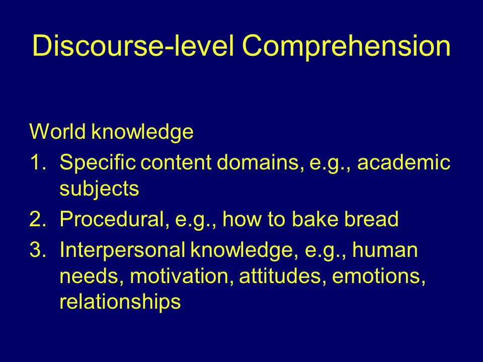 Discourse-level Comprehension