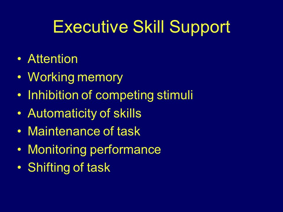 Executive Skill Support