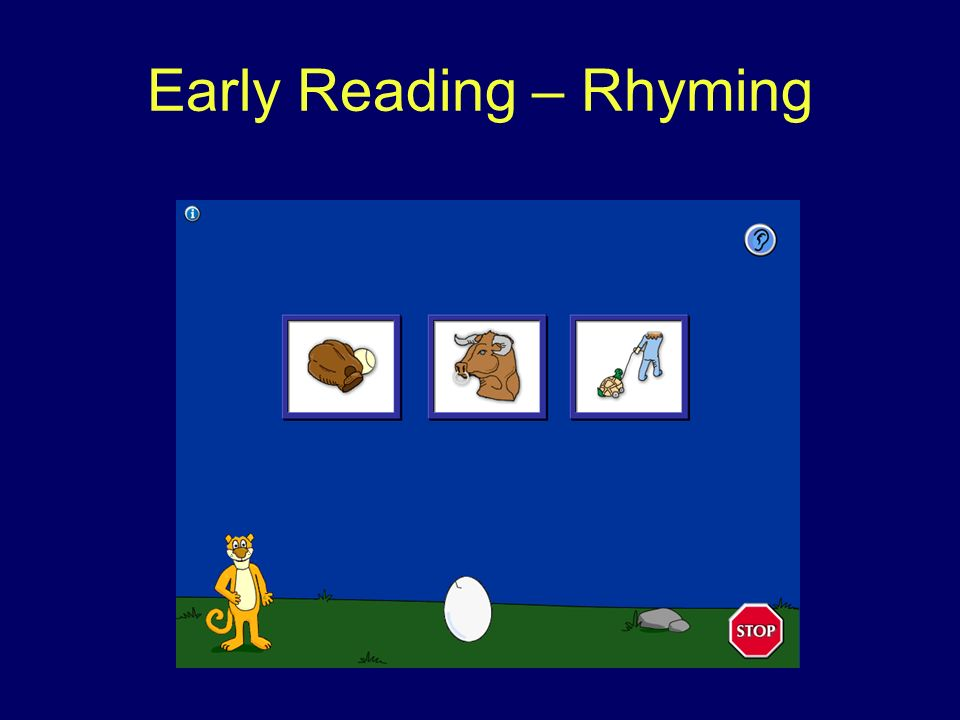 Early Reading – Rhyming