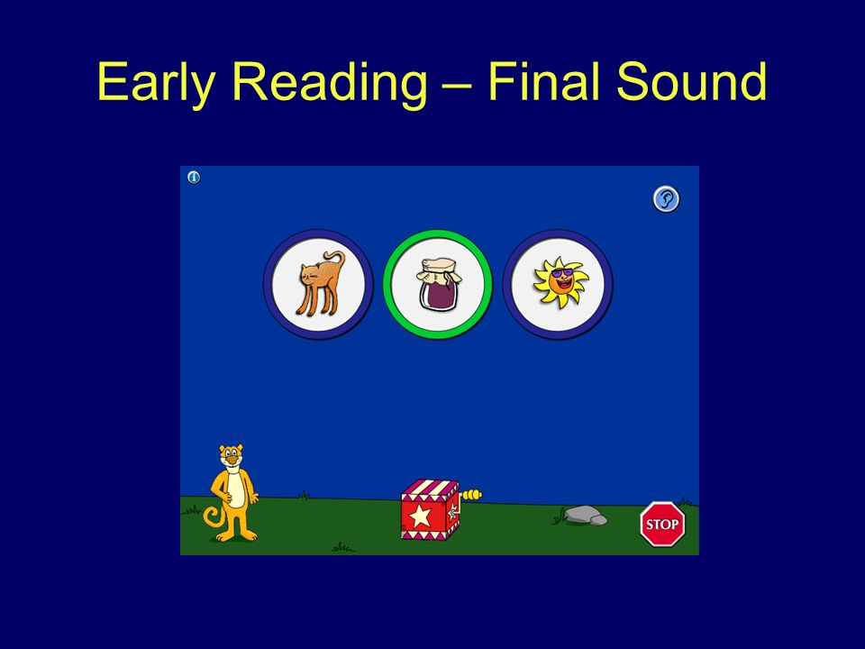 Early Reading – Final Sound