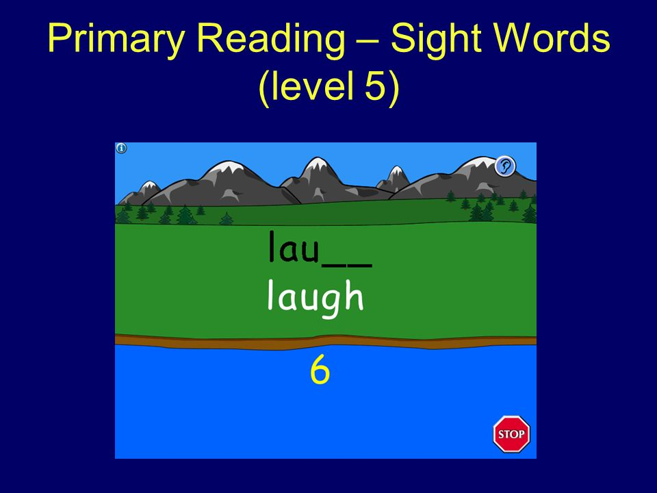 Primary Reading – Sight Words (level 5)