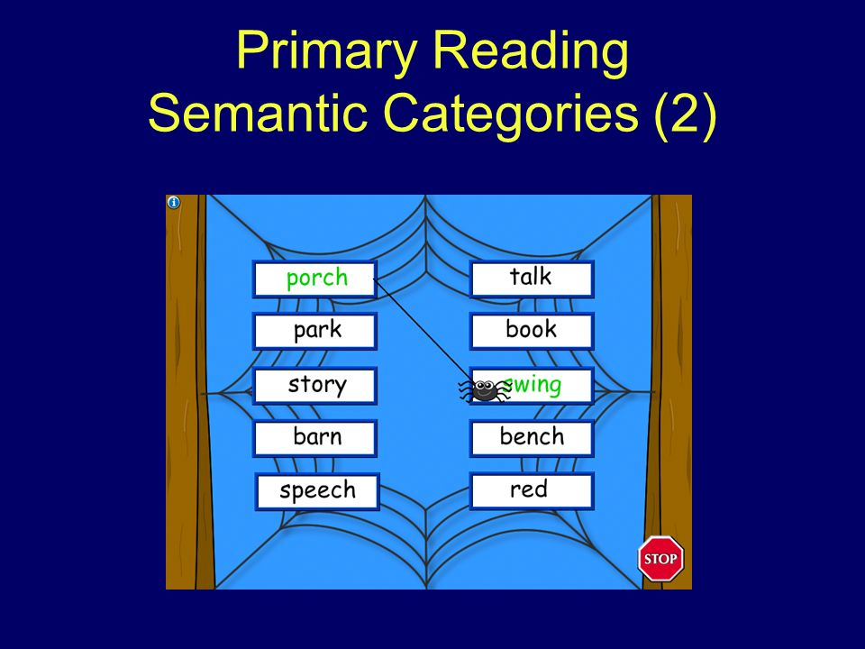 Primary Reading Semantic Categories (2)