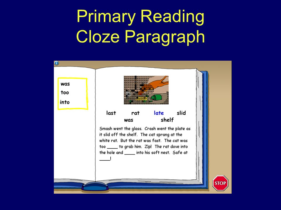 Primary Reading Cloze Paragraph