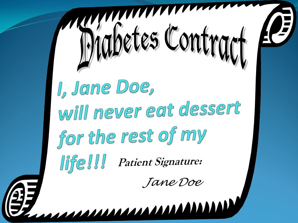 I, Jane Doe, will never eat dessert for the rest of my life!!!
