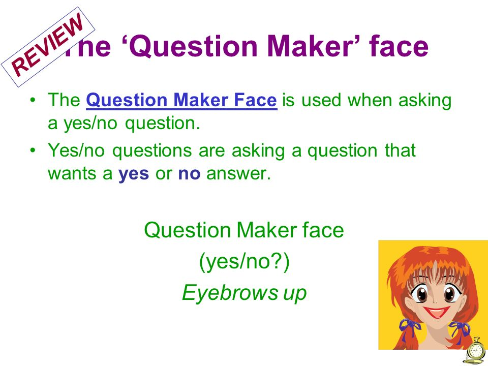 The 'Question Maker' face