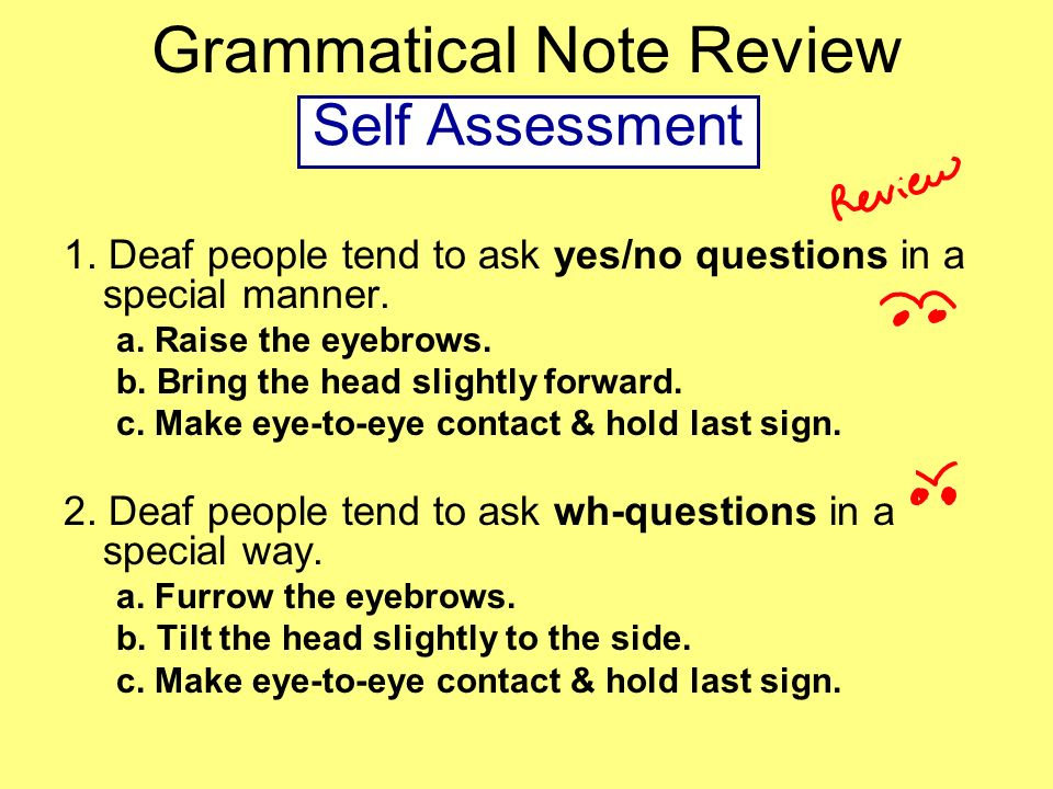 Grammatical Note Review