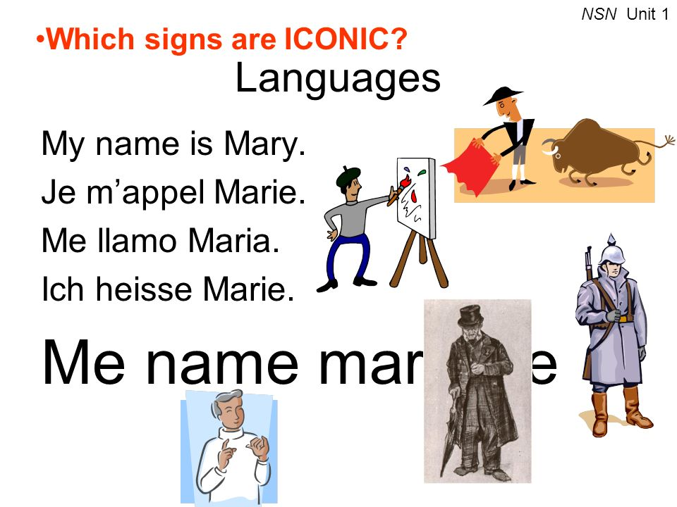 Me name mary me Languages My name is Mary. Je m'appel Marie.