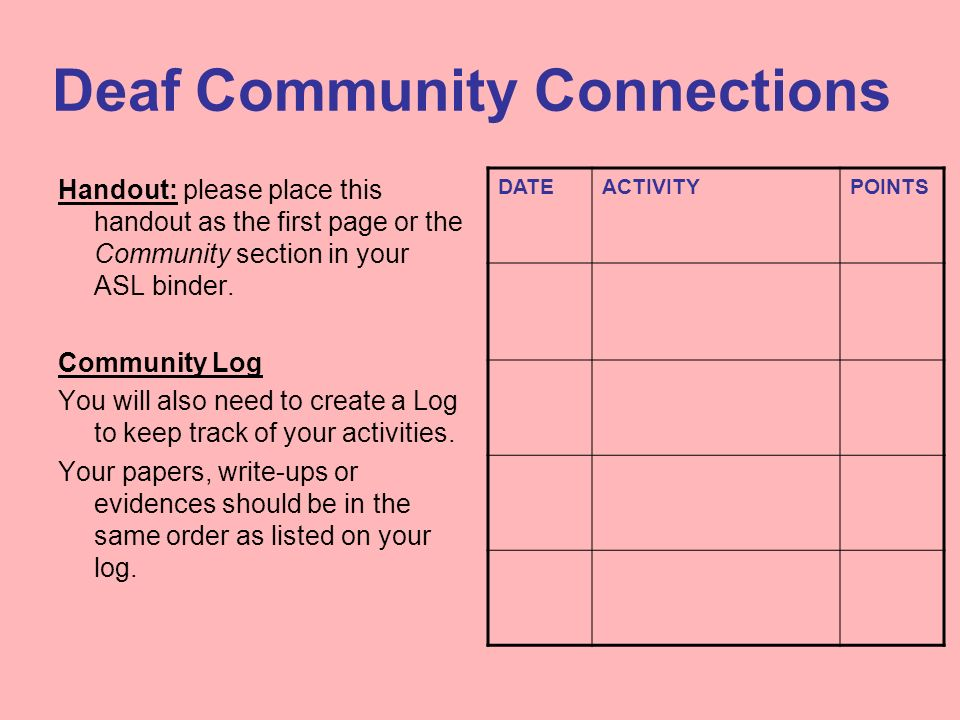 Deaf Community Connections