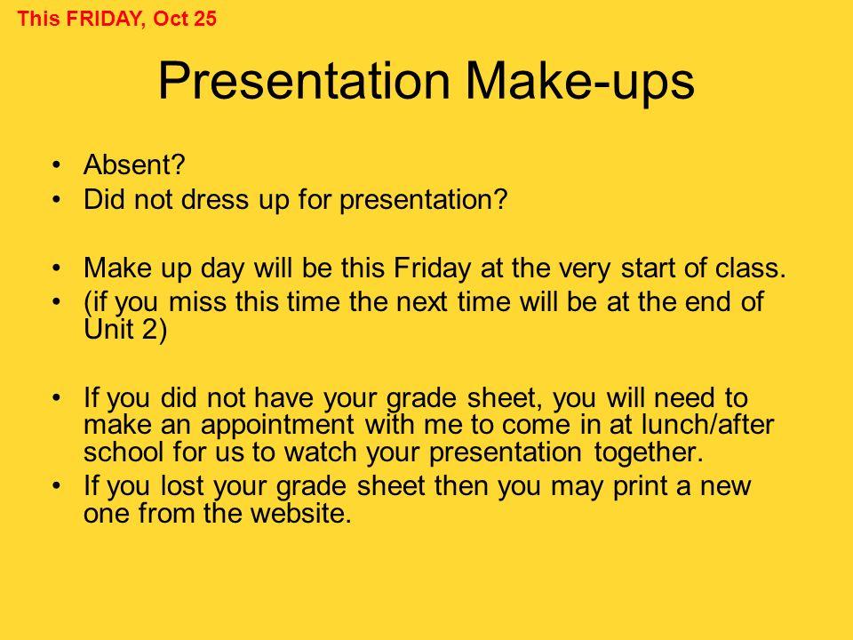 Presentation Make-ups