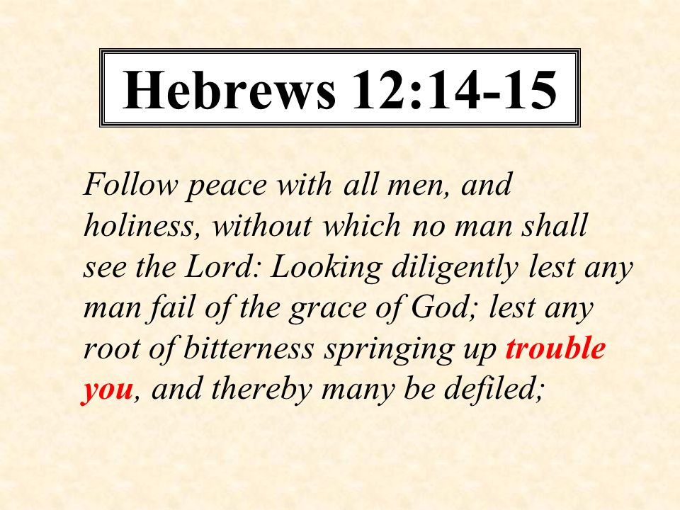 Hebrews 12:14-15