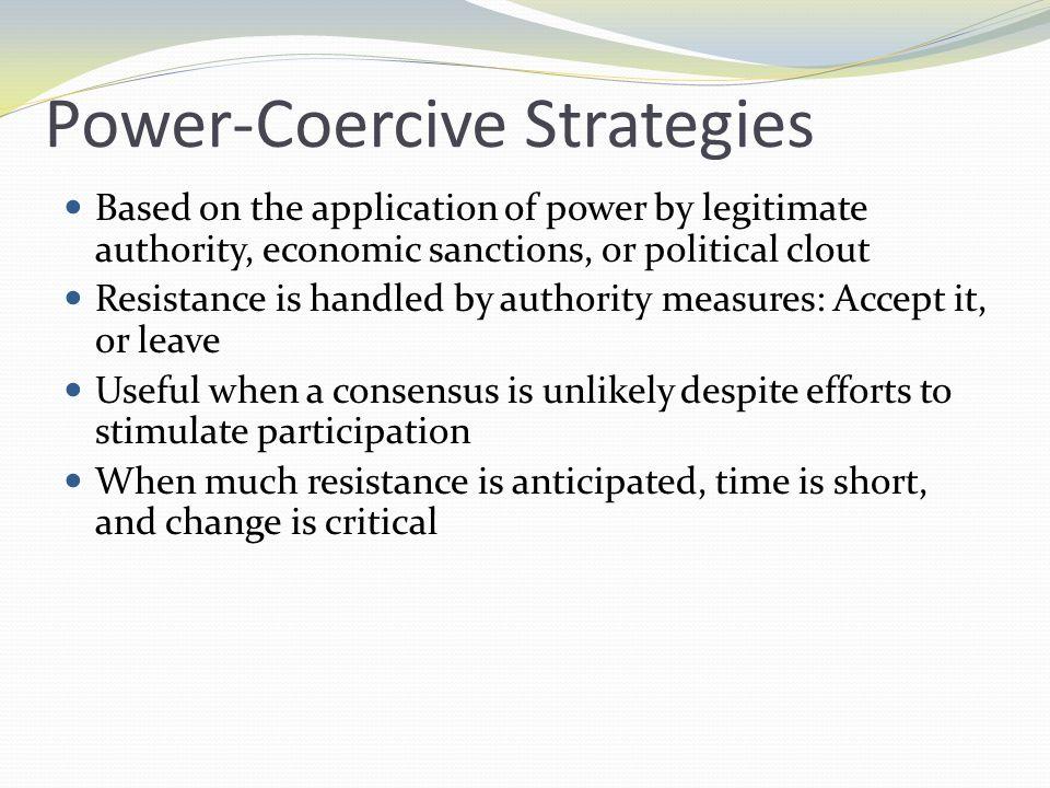 Power-Coercive Strategies