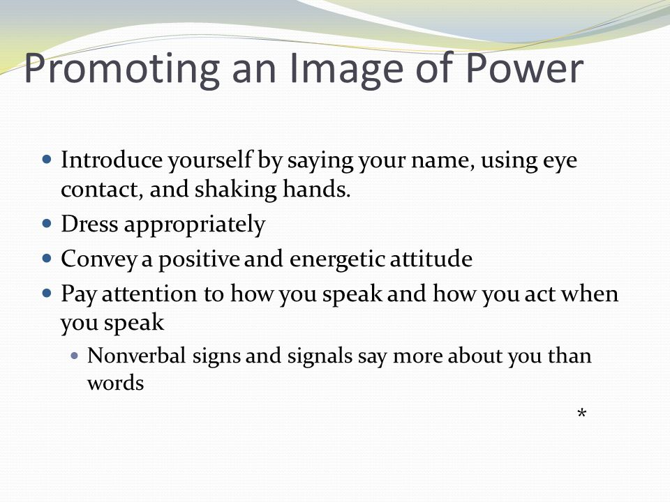 Promoting an Image of Power