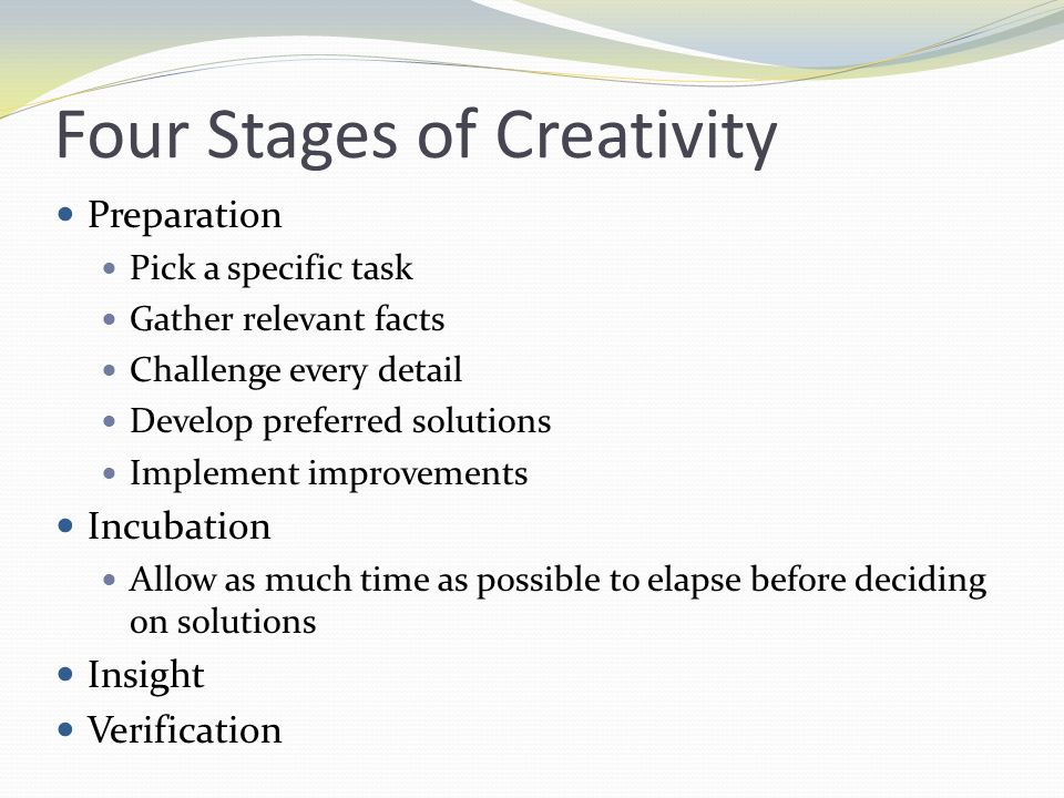 Four Stages of Creativity