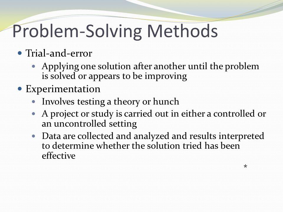 Problem-Solving Methods