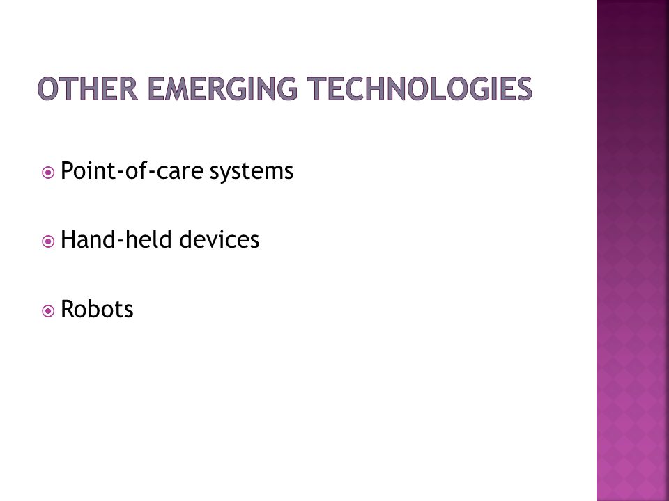 Other Emerging Technologies
