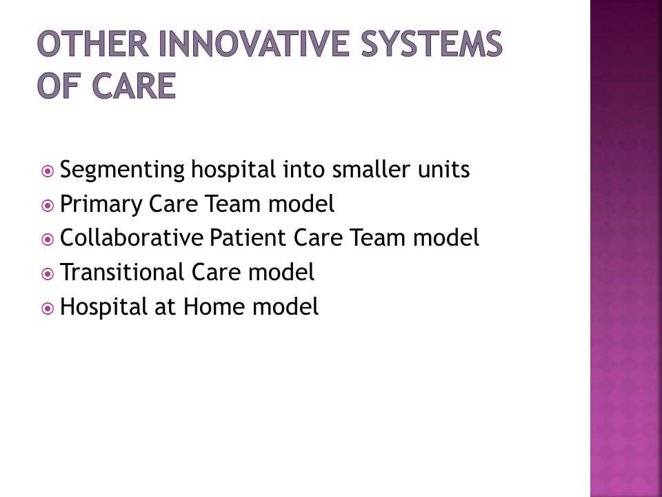 Other Innovative Systems of Care