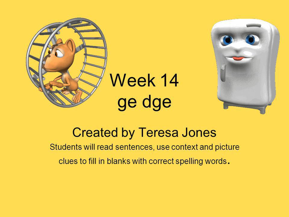 Created by Teresa Jones