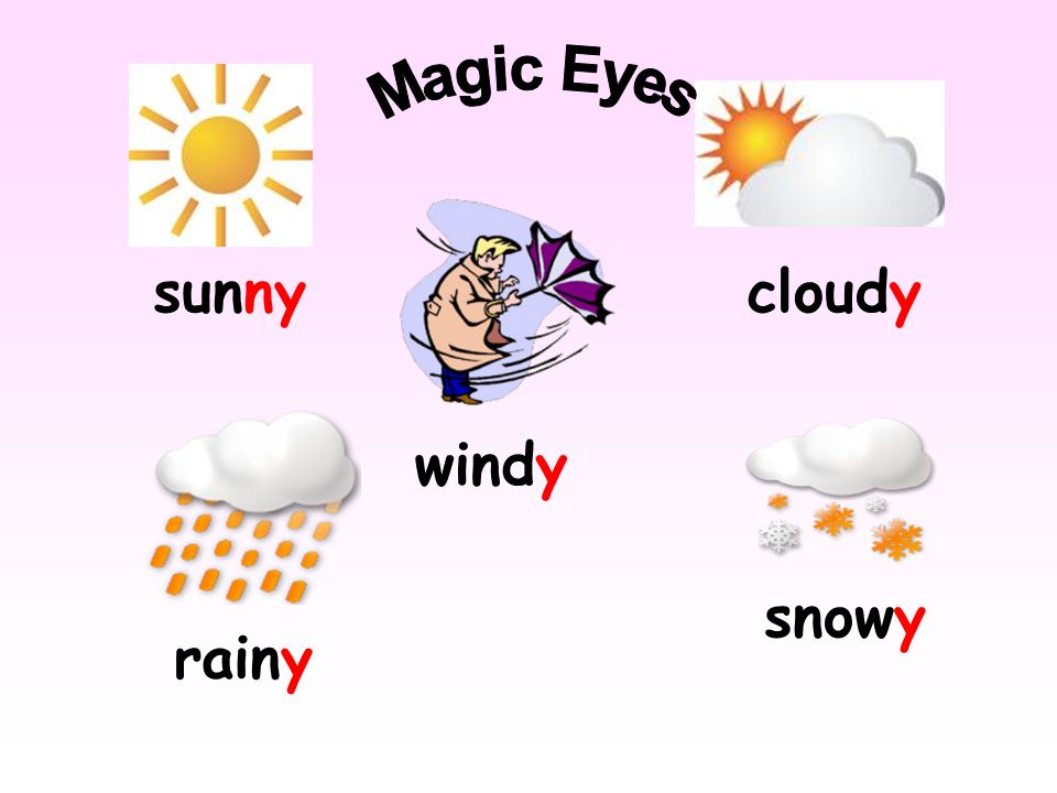 sunny Magic Eyes cloudy windy rainy snowy