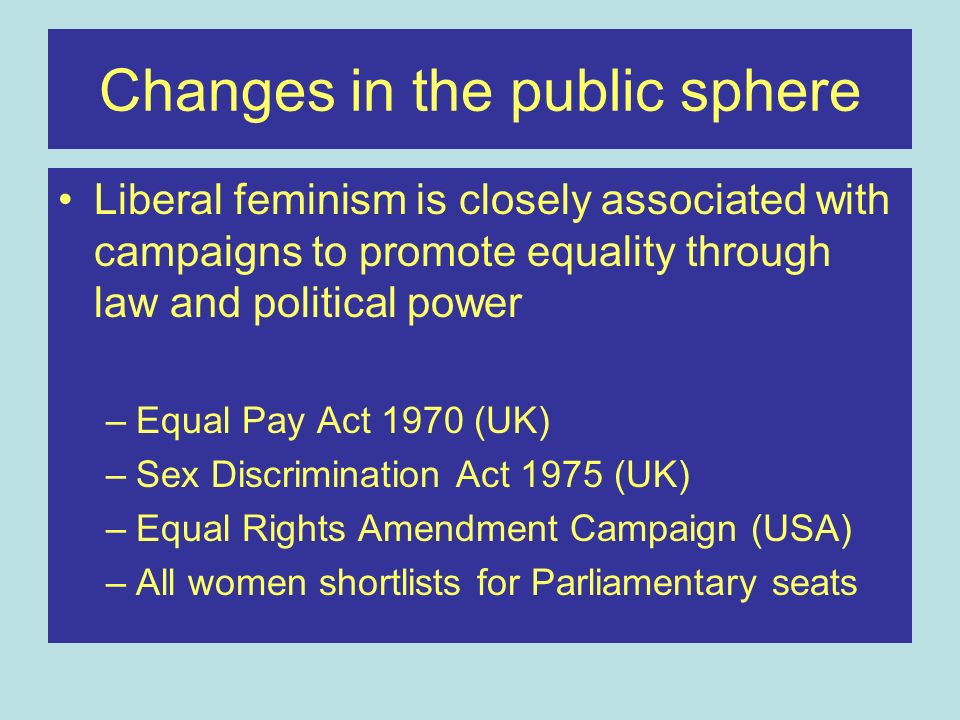 Changes in the public sphere