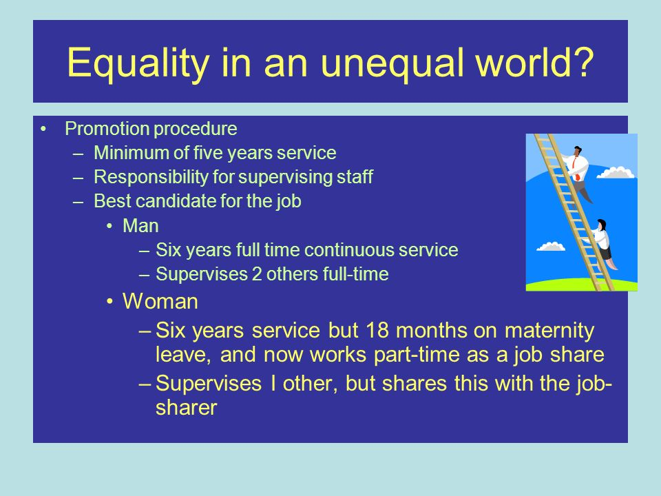 Equality in an unequal world