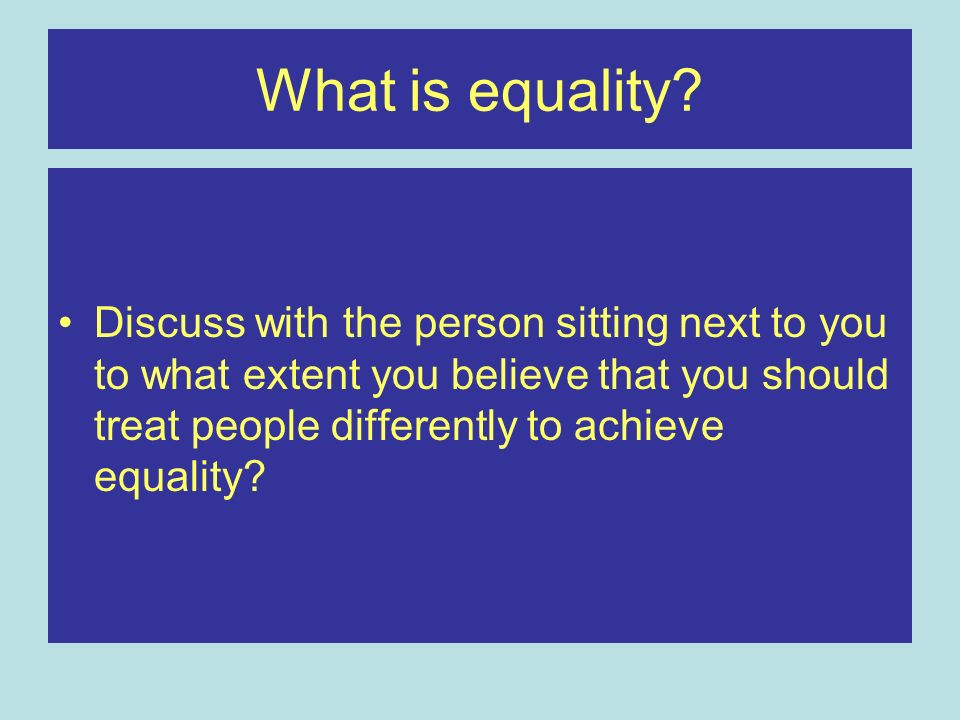 What is equality