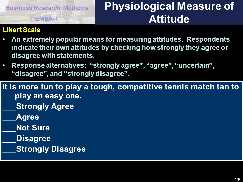 Physiological Measure of Attitude