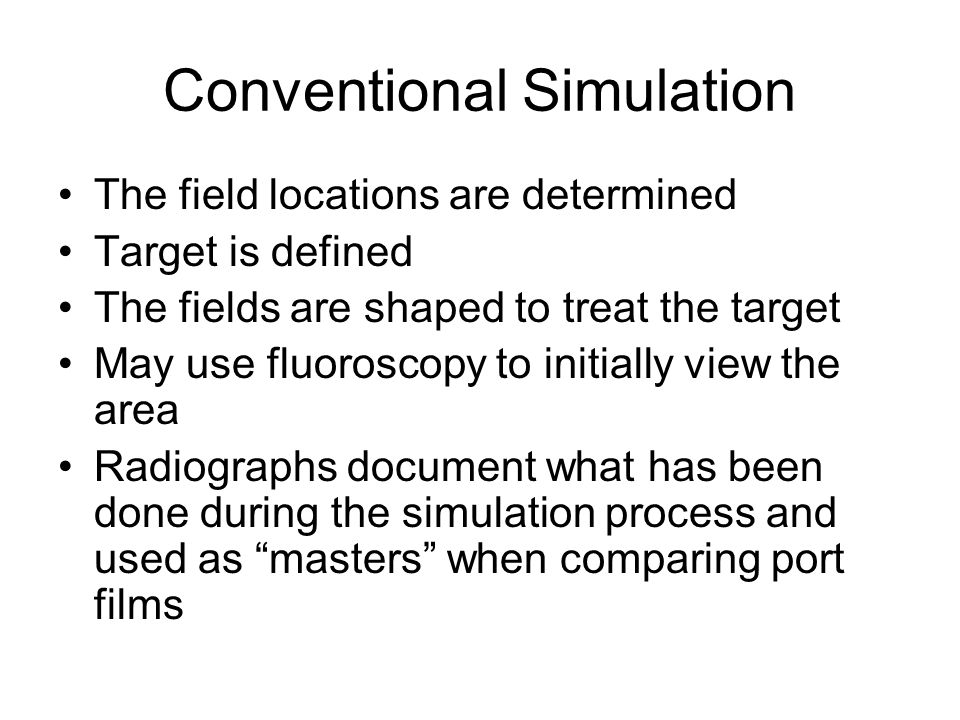 Conventional Simulation