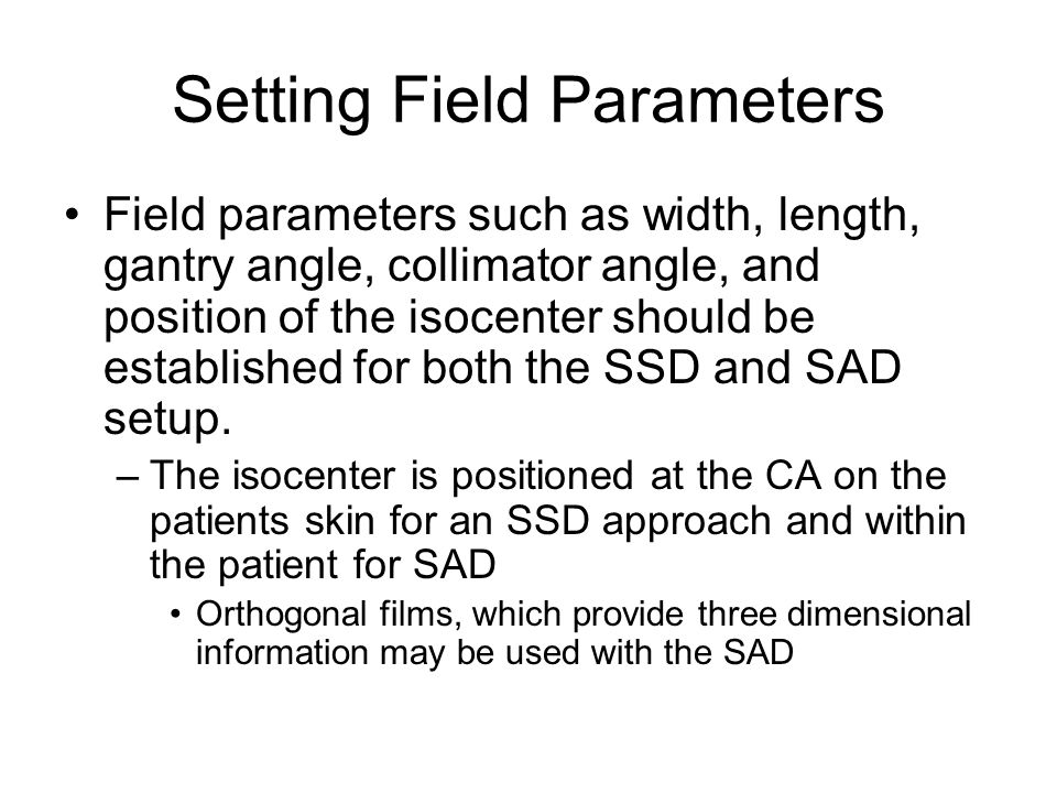 Setting Field Parameters