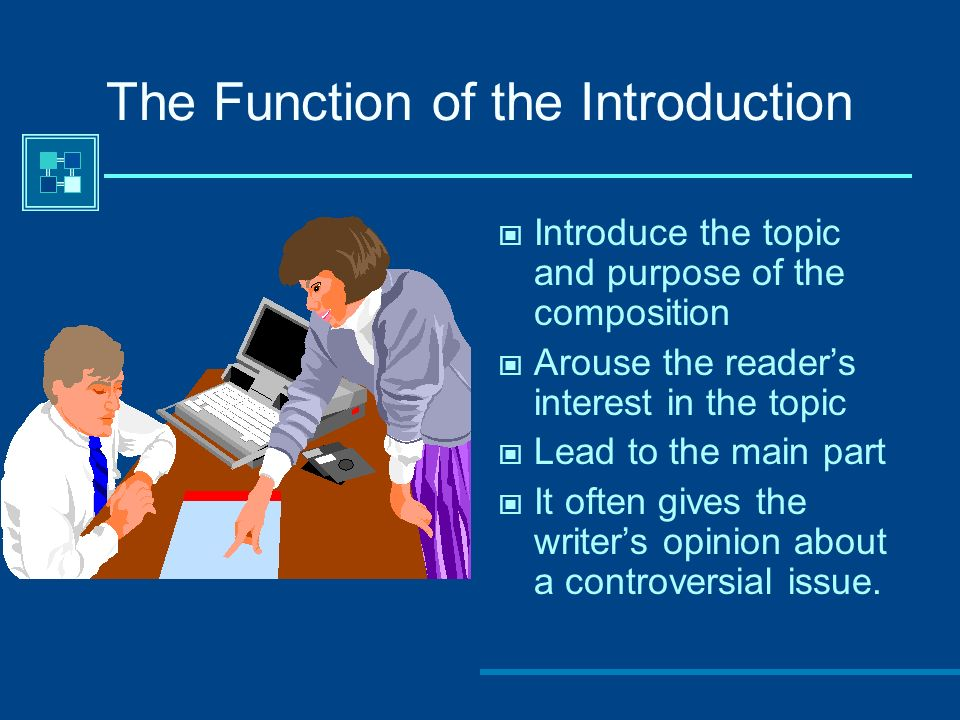 The Function of the Introduction