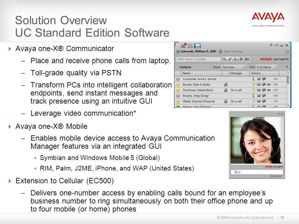 Solution Overview UC Standard Edition Software
