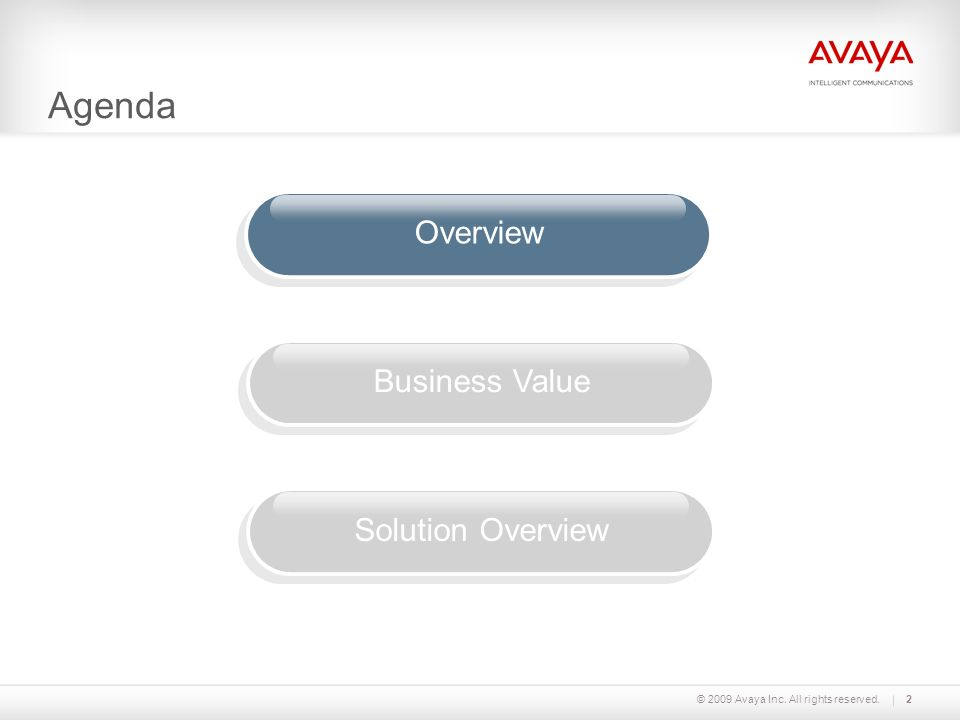 Agenda Overview Business Value Solution Overview